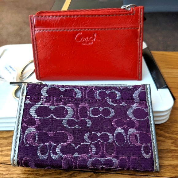 Coach ID case and change purse. ID case NWT, change purse NWOT